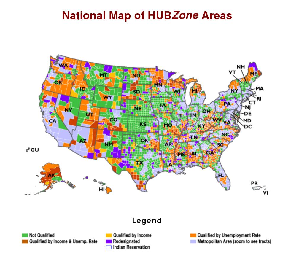 Hub Zone Map   Compressportnederland - Hubzone Map Texas