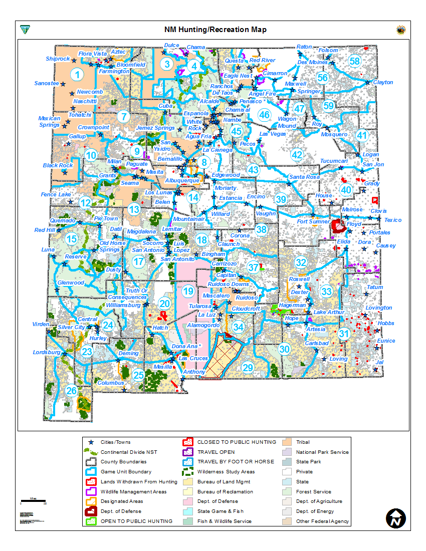 Hunting Unit Maps | Bureau Of Land Management - Blm Hunting Maps California