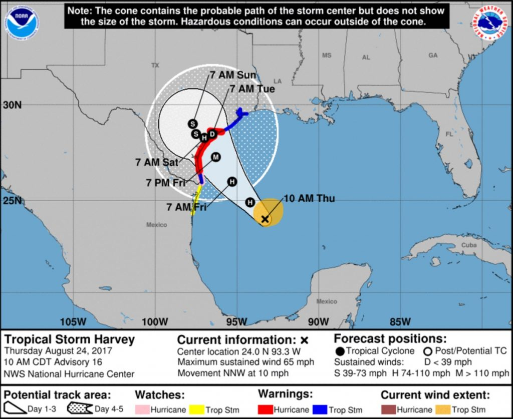 Hurricane Harvey Hits Galveston Over The Weekend - Tylka Law Firm - Texas Windstorm Map Harris County