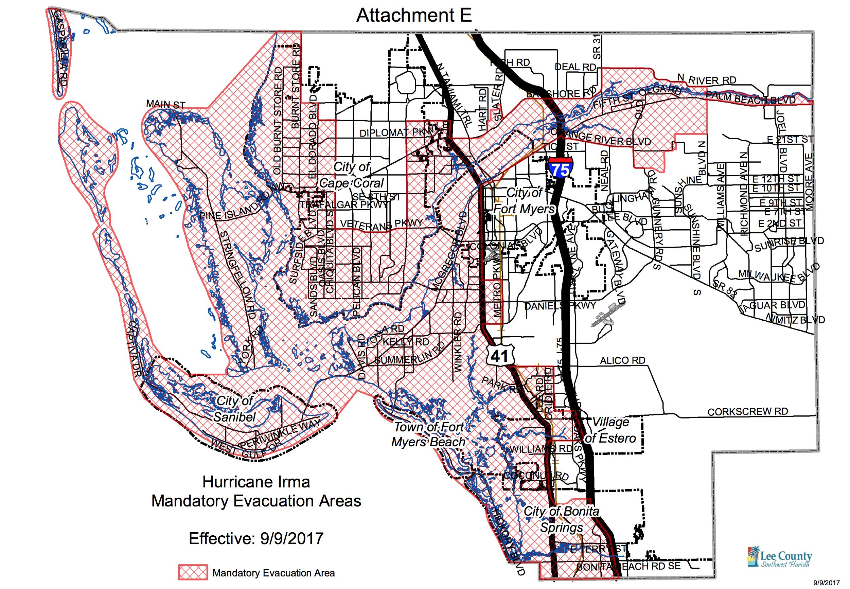 Hurricane Irma: Lee County Expands Mandatory Evacuations - Lee County Flood Zone Maps Florida