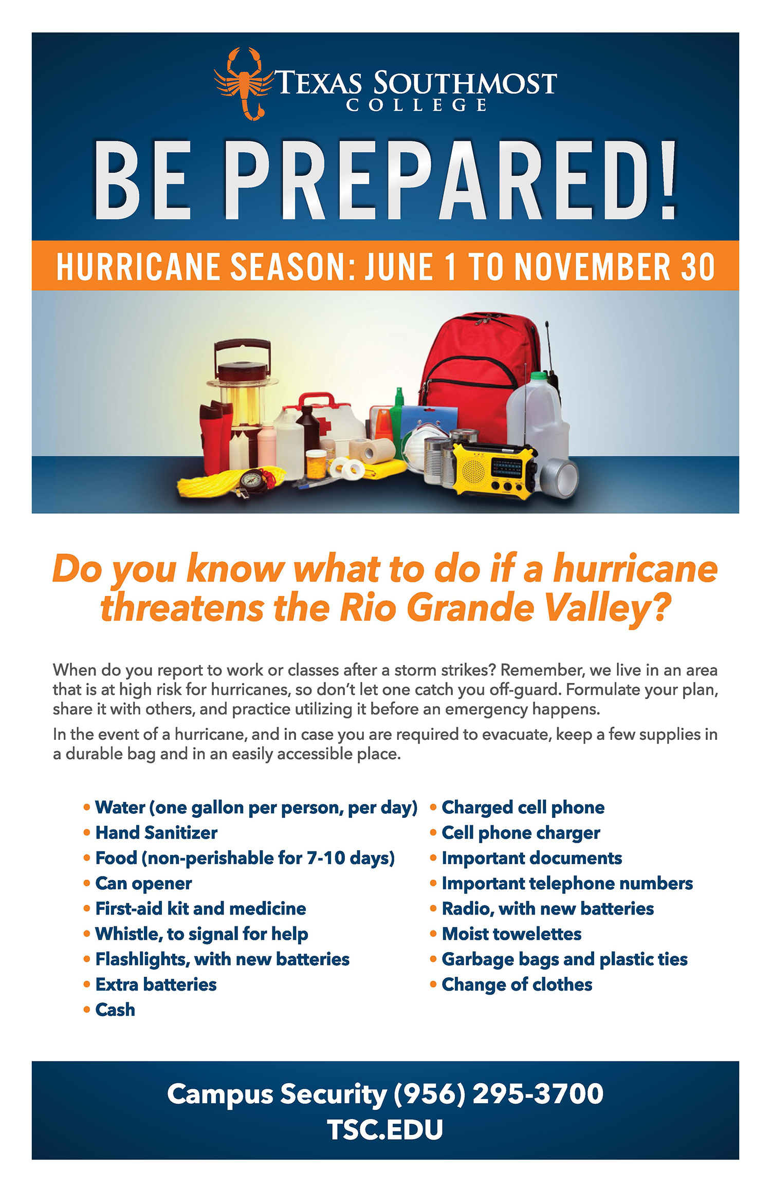 Hurricane Preparedness - Texas Southmost College Map