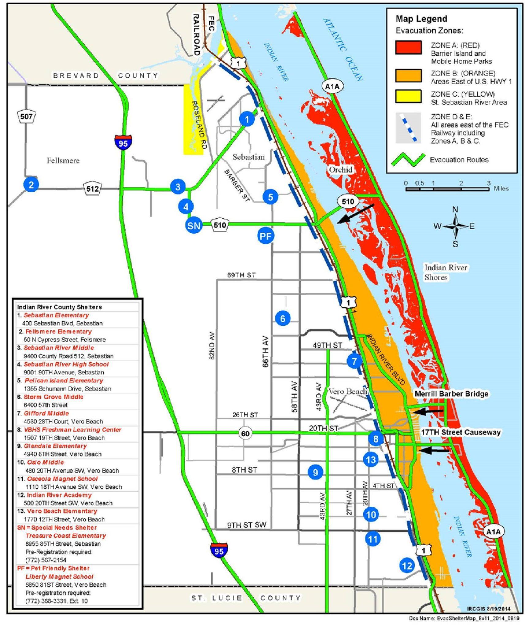 Hurricane Shelters In Vero Beach, Fl | Blog - Alex Macwilliam Real - Map Of Vero Beach Florida Area