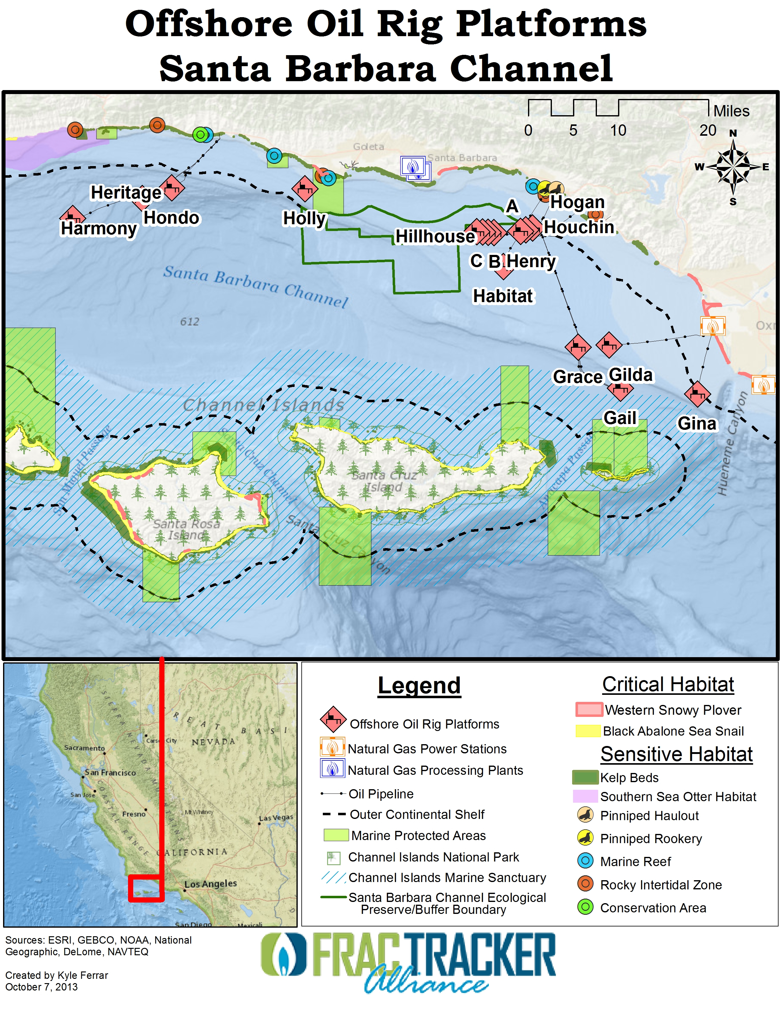 Hydraulic Fracturing Offshore Wells On The California Coast - Texas Oil Rig Fishing Map