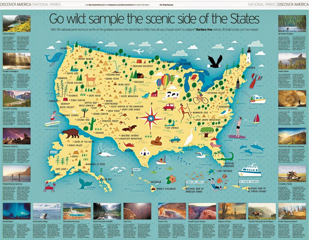 I Draw Maps: A Map Of All 59 Us National Parks For The Daily - Printable Map Of Us National Parks