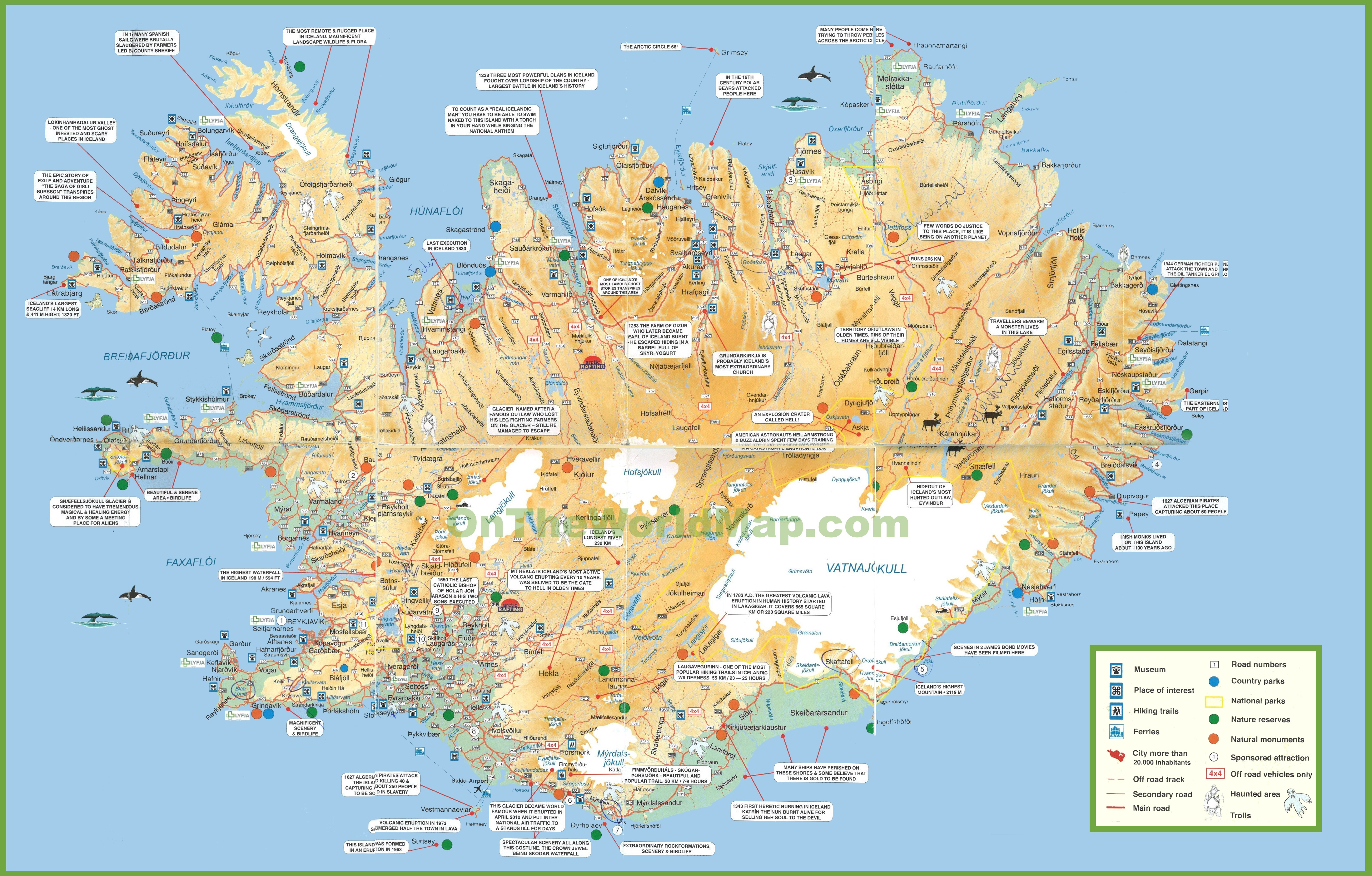 Iceland Maps | Maps Of Iceland - Printable Driving Map Of Iceland