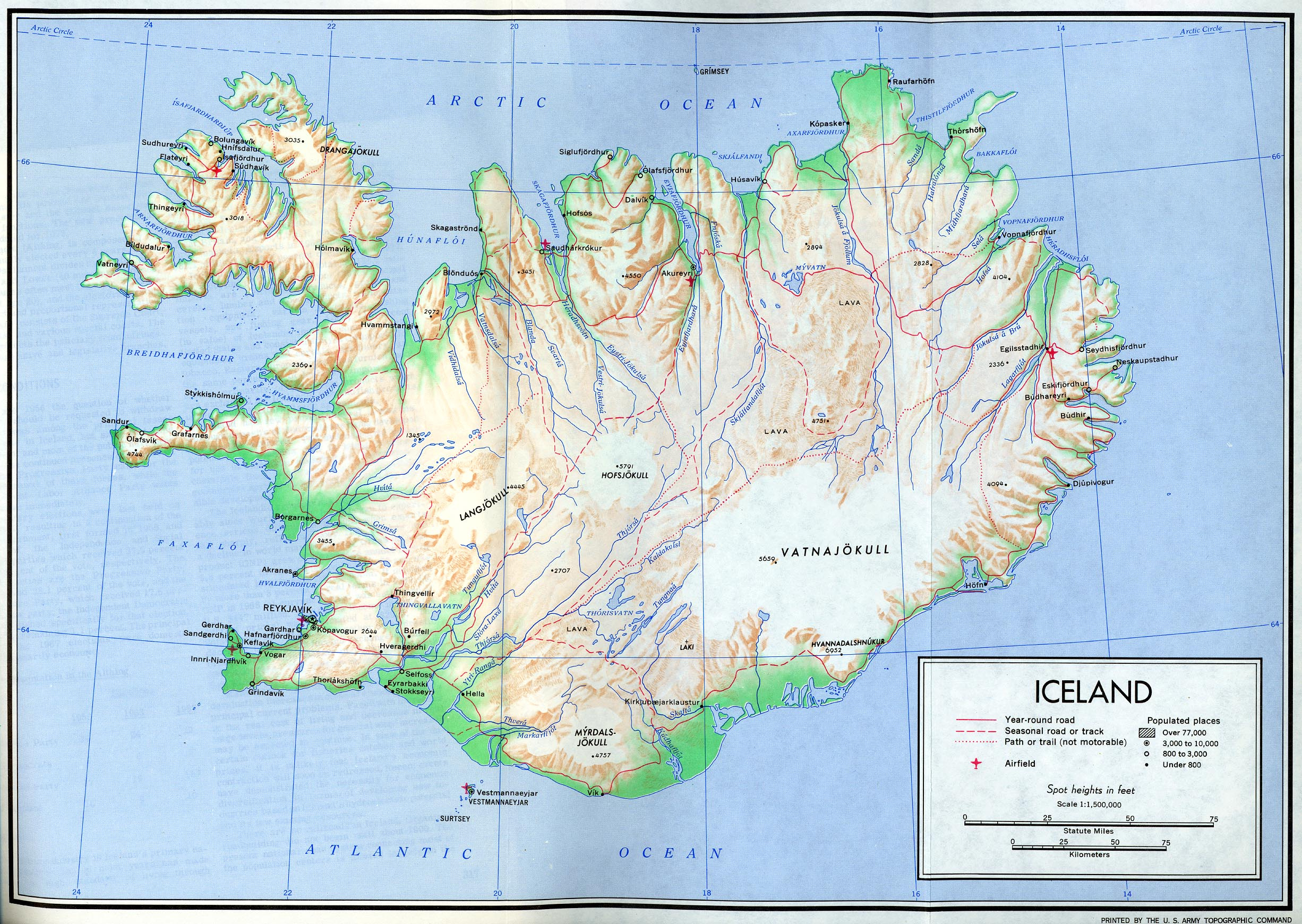 Iceland Maps - Perry-Castañeda Map Collection - Ut Library Online - Printable Road Map Of Iceland