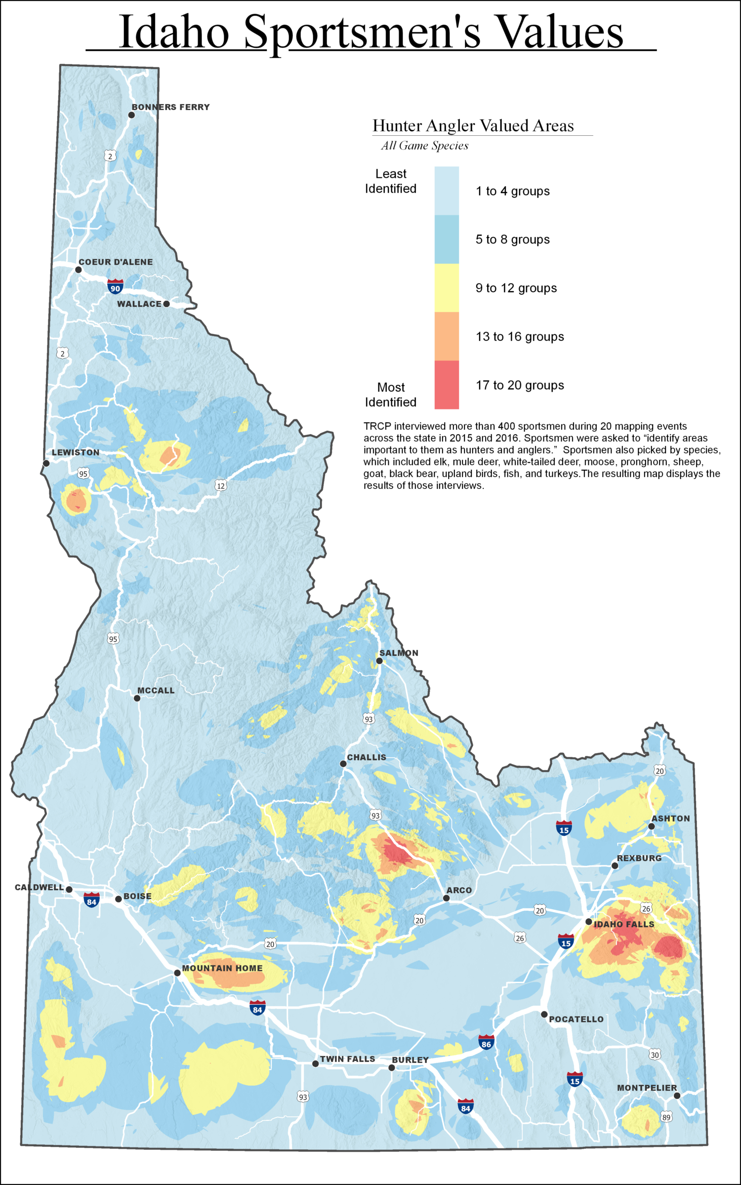 Idaho Sportsmen Identify Most Valued Hunting And Fishing - Texas Pheasant Population Map