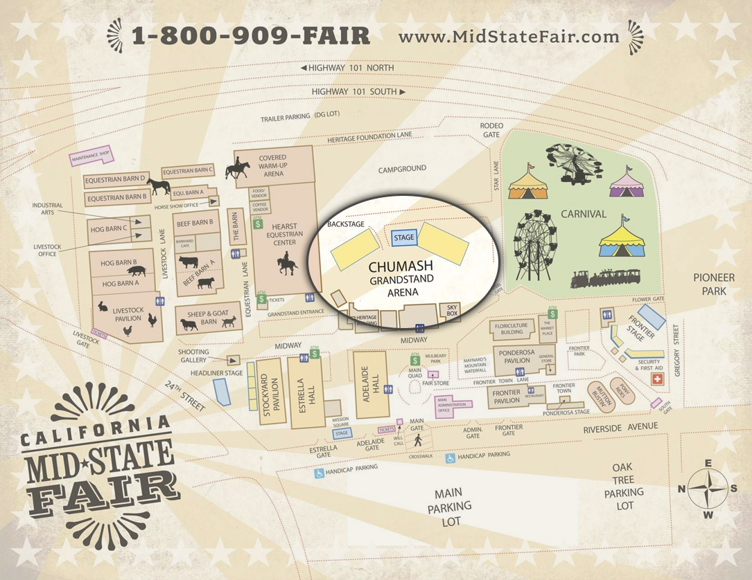 Ideas Of Mid State Fair Seating Chart Cool Tba July 20 | Geotecsolar - Map Of California Mid State Fair