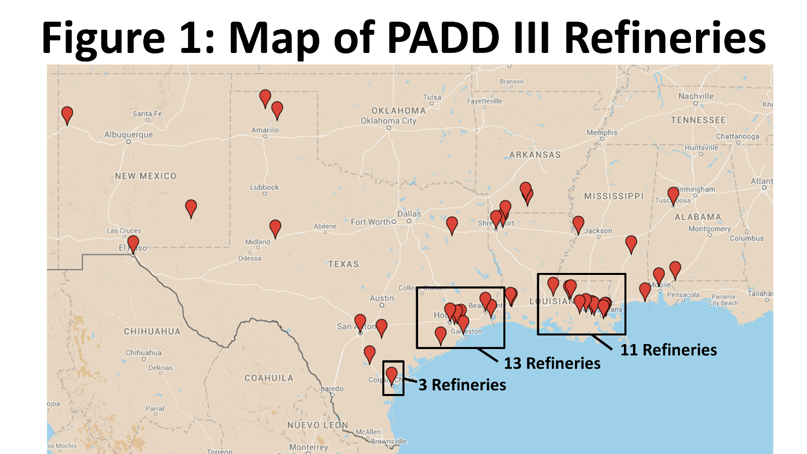 If You're Gonna Play In Texas, You Gotta Have A Fiddle (Coker) In - Texas Refineries Map