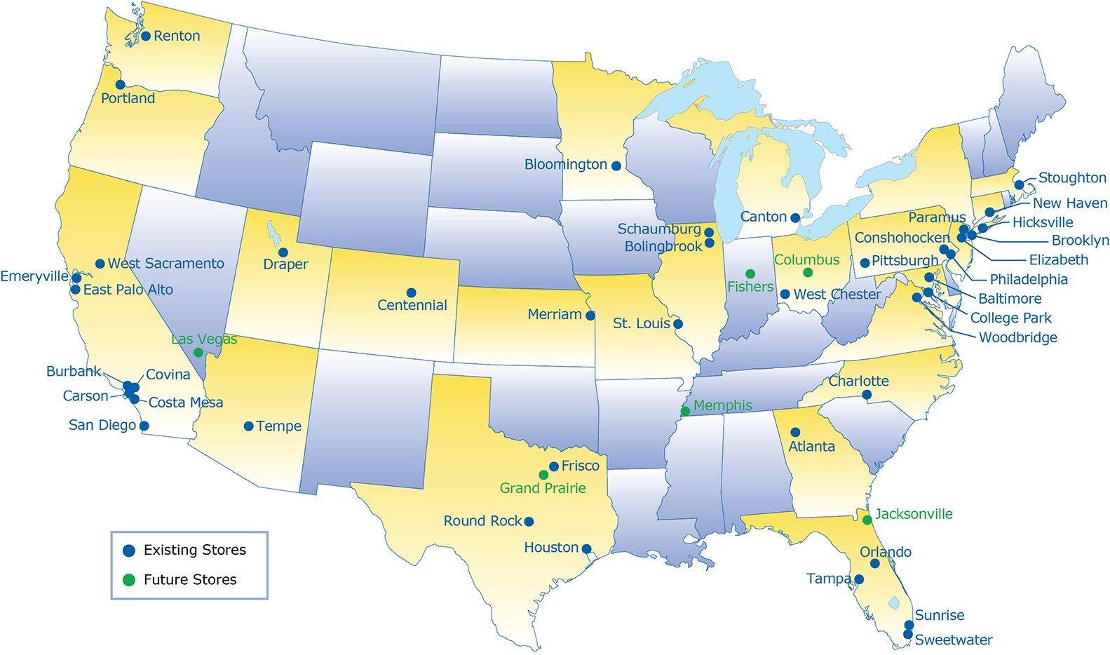 Ikea Locations | Amir Mann Ami Shinar Architects And Planners Ltd Status - Ikea Locations California Map