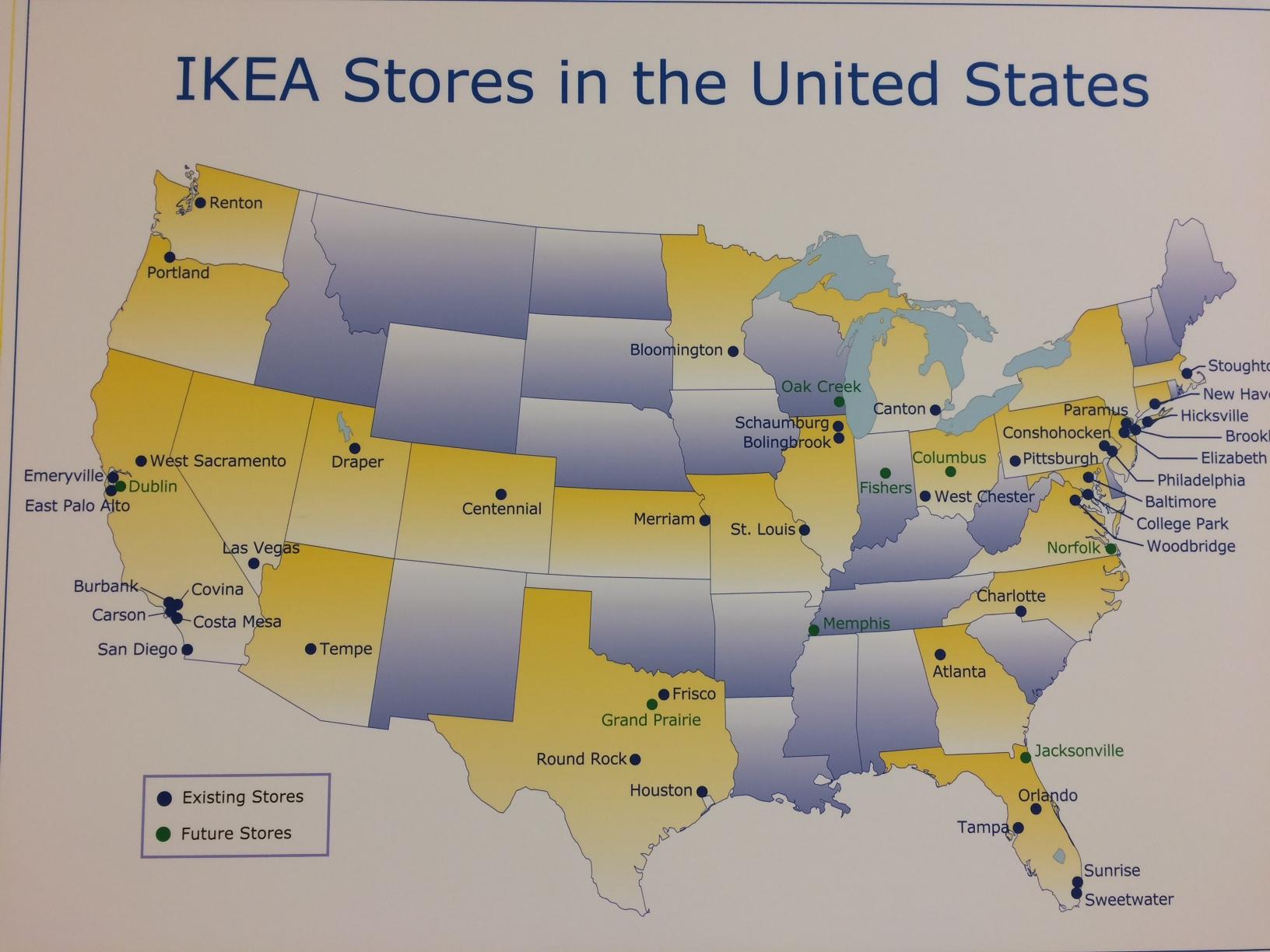 Ikea Stores Us Map 43 Best When In Ikea Jysk Leroymerlin Images On - Ikea Locations California Map