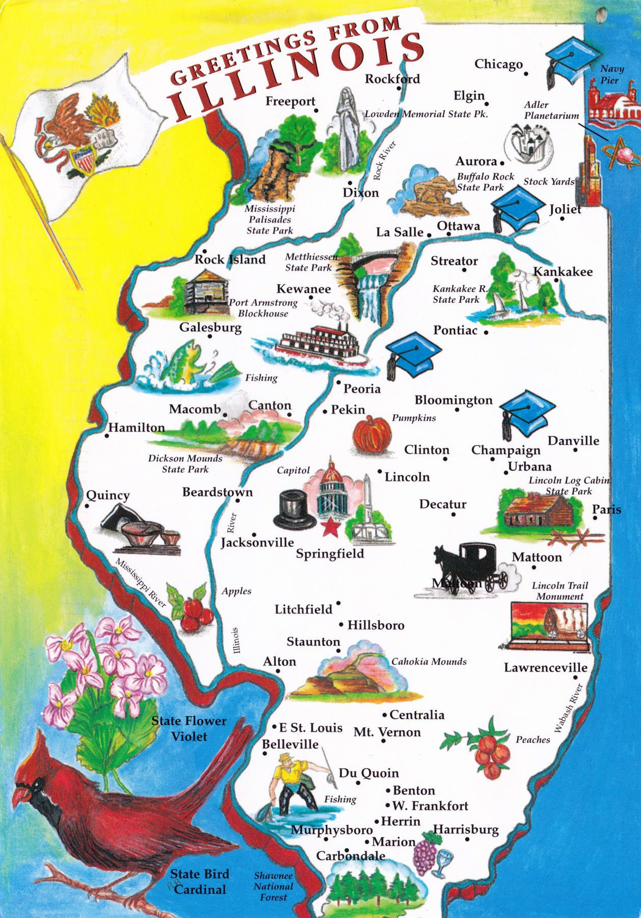 Illinois | Been There Done That | Rockford Illinois, Springfield - Printable Map Of Rockford Il
