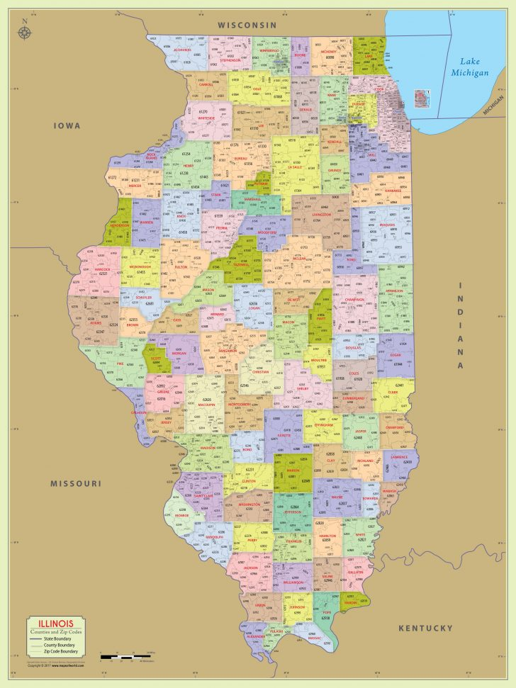 Printable Map Of Illinois