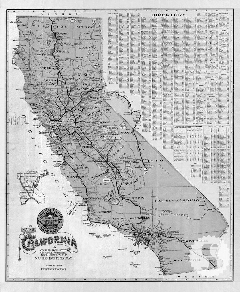 Image Result For Black White Road Map California   Kitchen - California Map Black And White