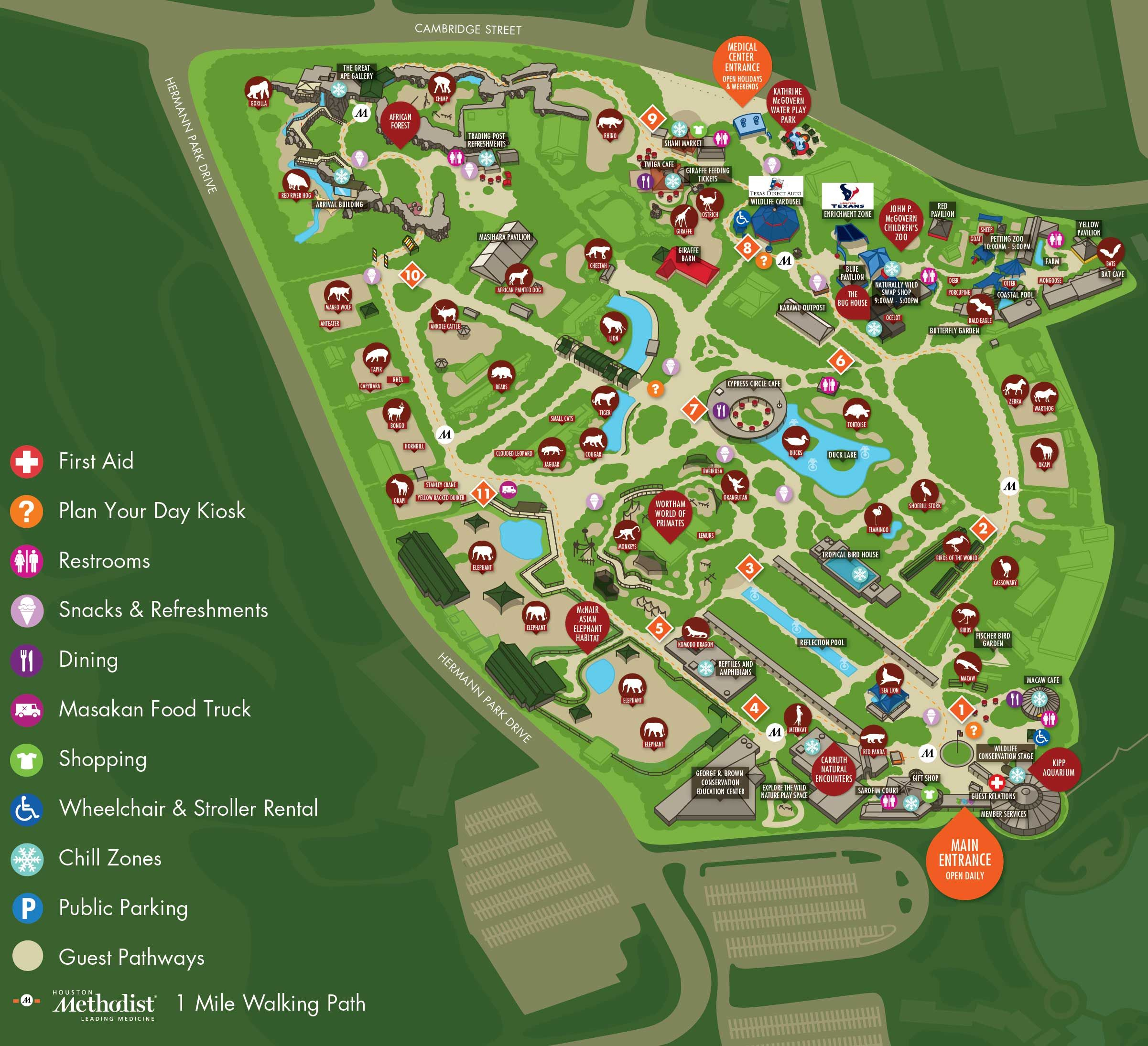 Image Result For Houston Zoo Map | Zoo's And Animal Stuff | Zoo Map - Central Florida Zoo Map