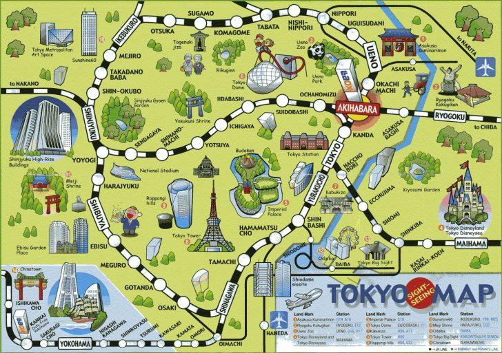 Printable Map Of Tokyo