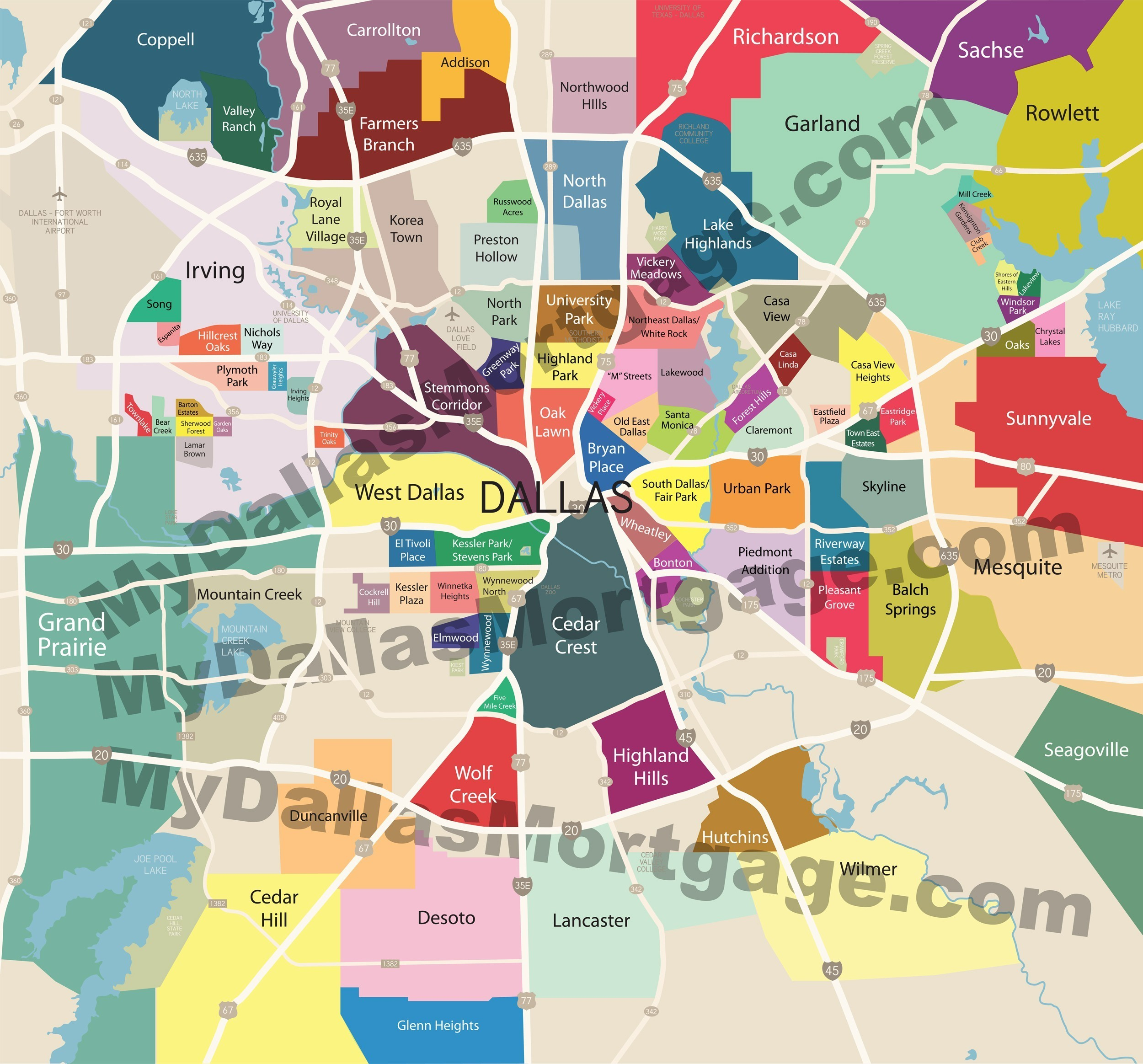 Images Neighborhoods Of Dallas And Surrounding Areas Google Map - Google Maps Dallas Texas
