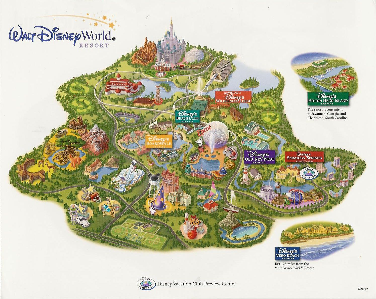Images Of Disneyworld Map | Disney Vacation Club At Walt Disney - Disney World Florida Resort Map