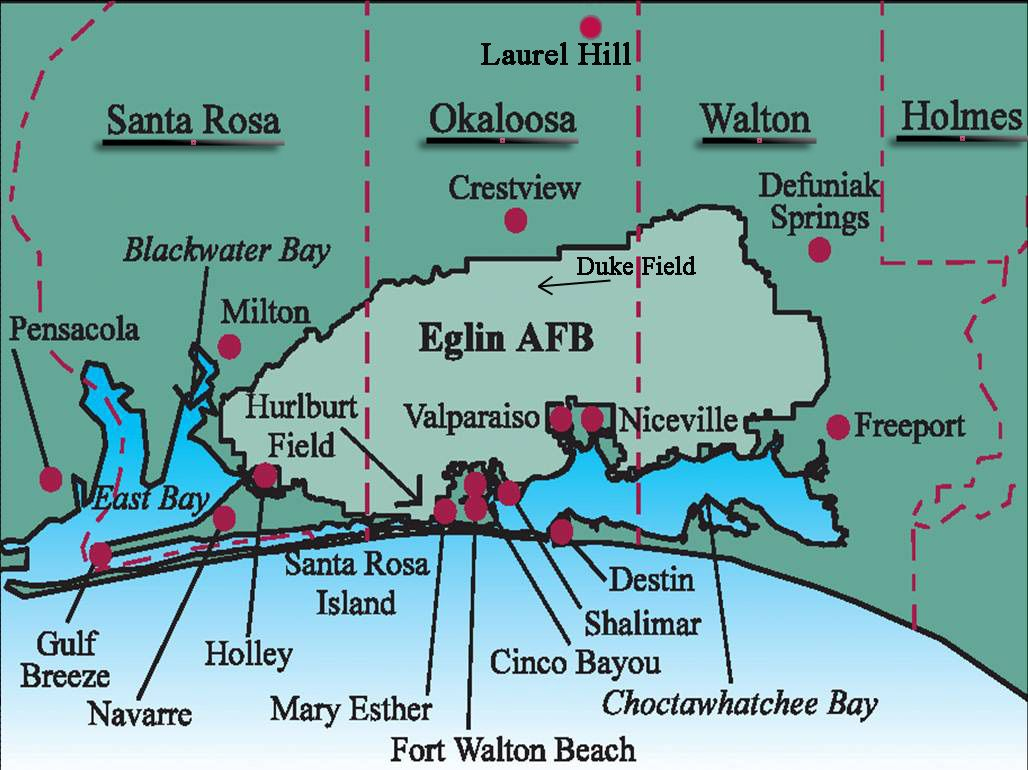 Images Of Eglin Afb - Google Search   Eglin Afb   Florida Travel - Niceville Florida Map