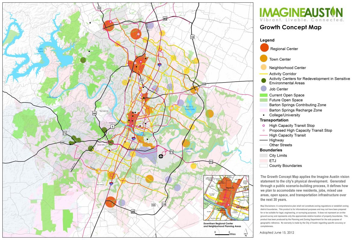 Imagine Austin Resources | Austintexas.gov - The Official Website Of - Austin Texas Public Transportation Map