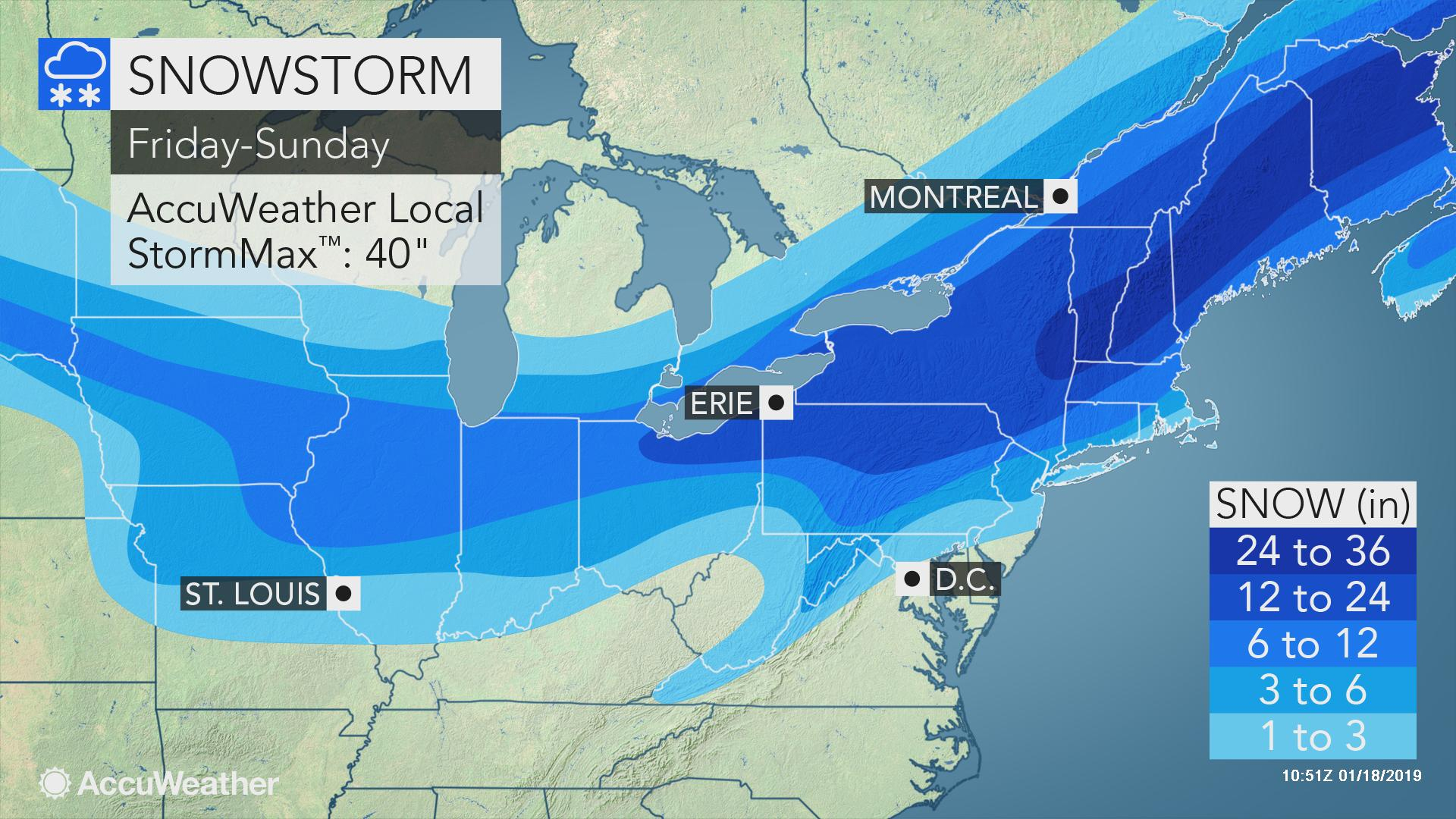 Immobilizing Blizzard With Feet Of Snow Looms For Interior Northeast - California Snow Map