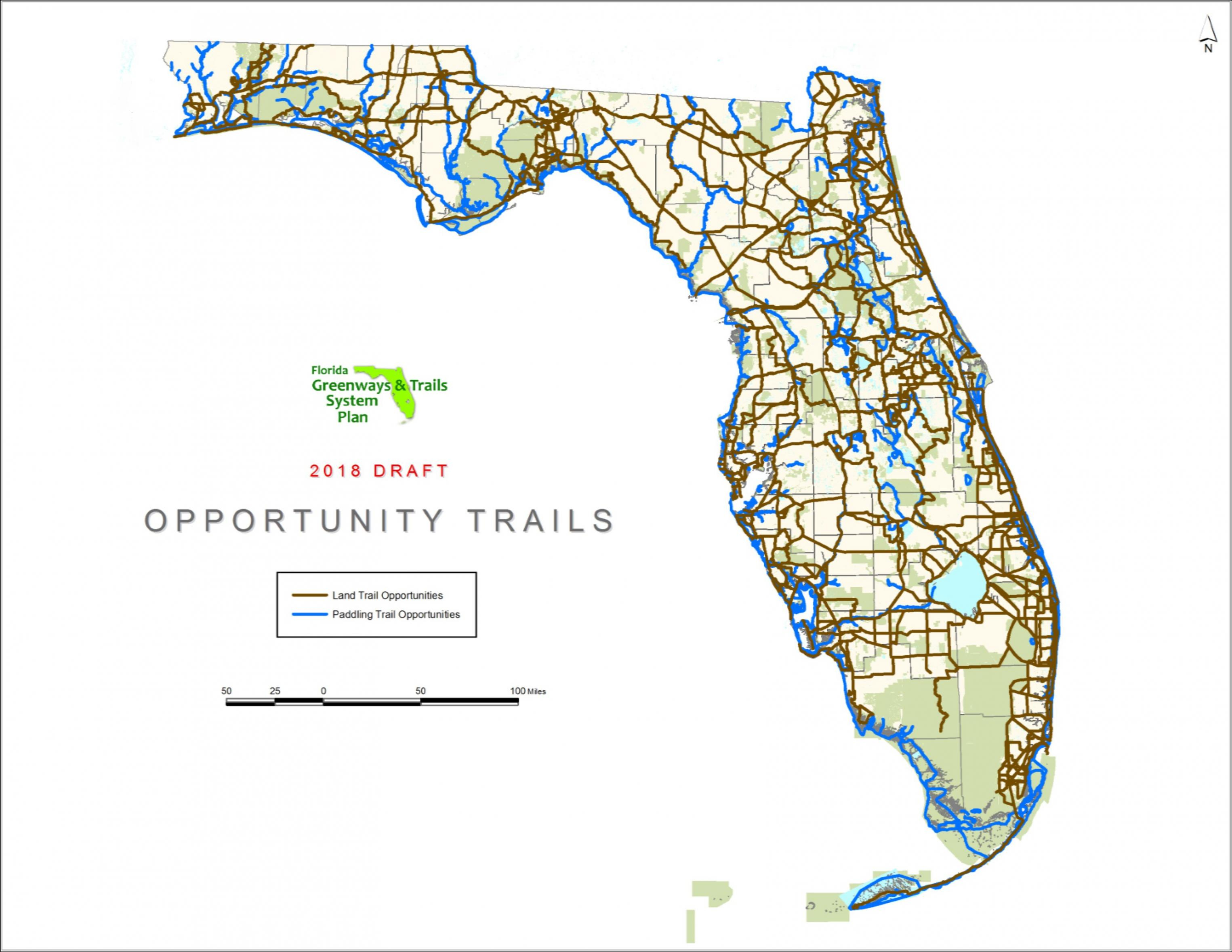 In-House Graphics-Draft Ogt 2018-2022 Priority Trails Map | Florida - Florida Greenways And Trails Map