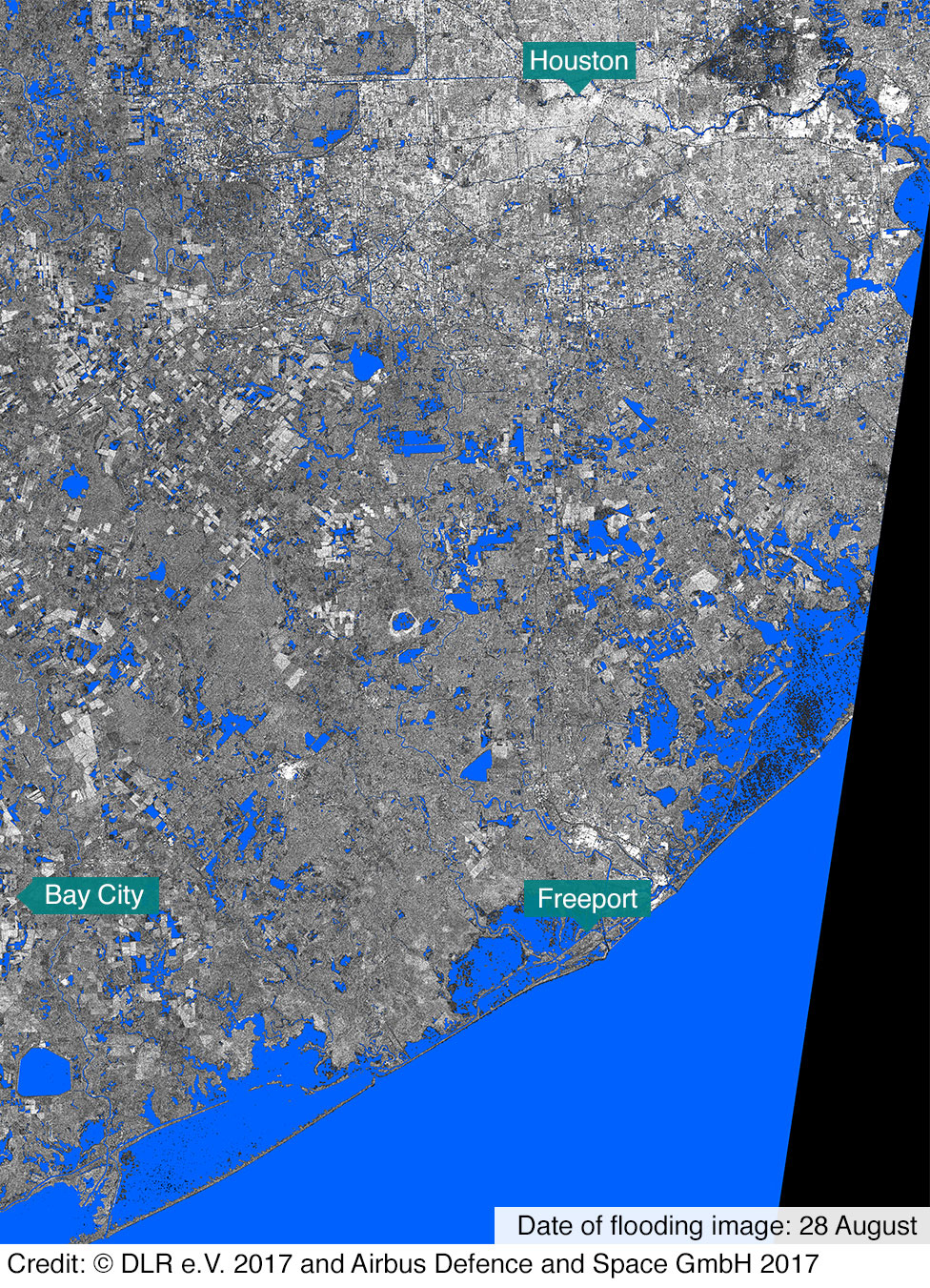 In Maps: Houston And Texas Flooding - Bbc News - Map Of Flooded Areas In Houston Texas