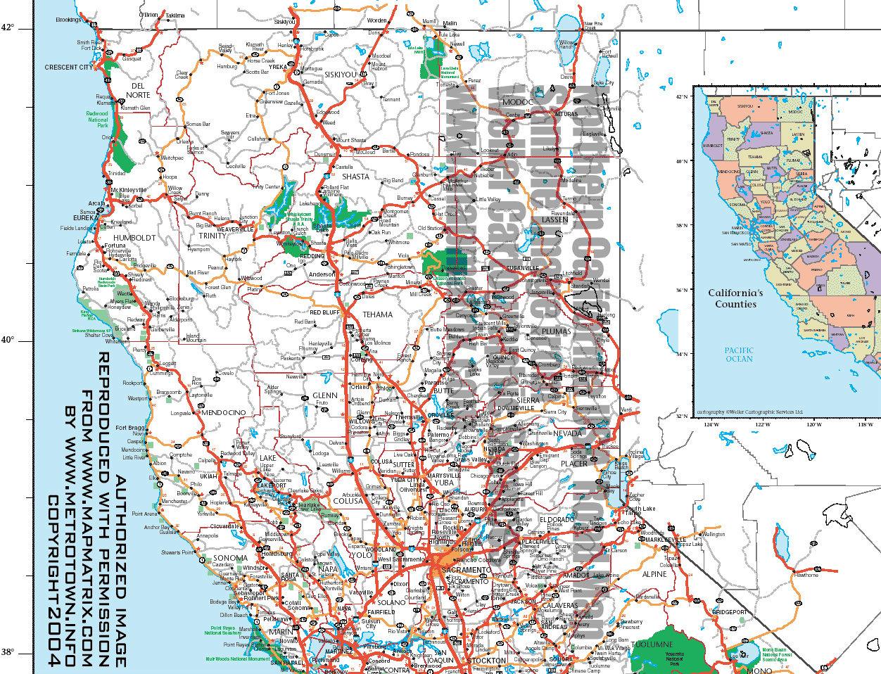 Index Map California Map Of Northern California And Oregon Coast - Road Map Of Northern California Coast