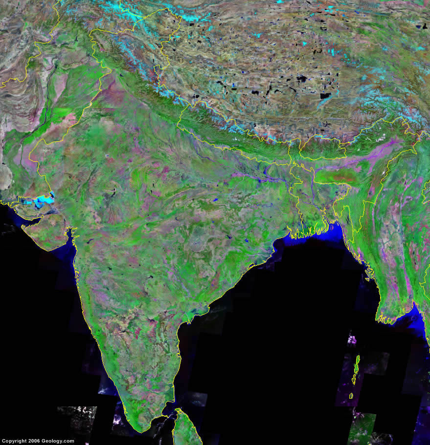 India Map And Satellite Image - Google Satellite Map Of Texas