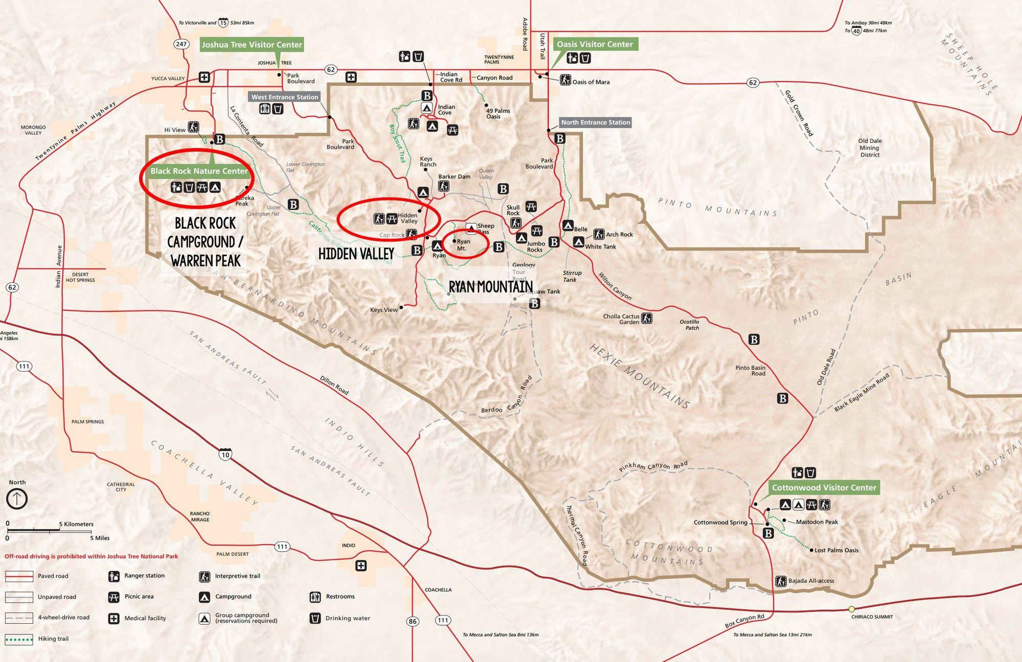 Indian Casinos In California Map Printable Best Joshua Tree Hikes - Joshua Tree California Map