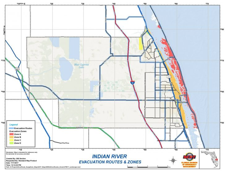 Florida Evacuation Route Map