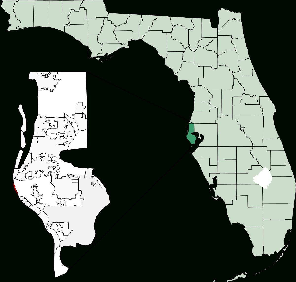 Indian Shores, Florida - Wikipedia - Redington Beach Florida Map