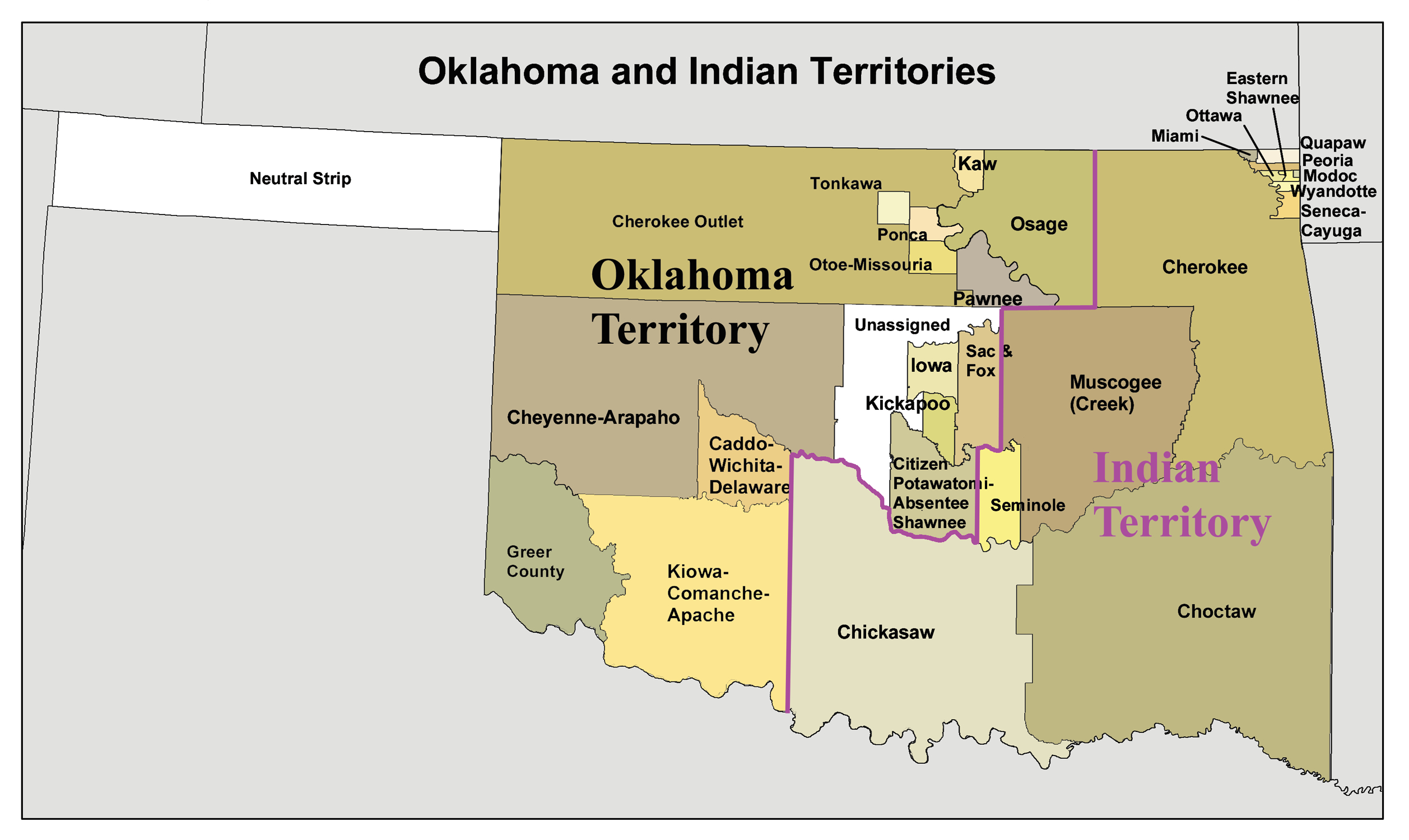 Indian Territory - Wikipedia - Native American Reservations In Texas Map
