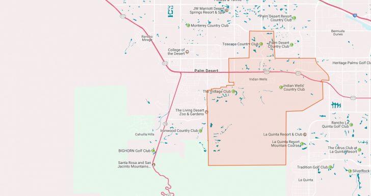 Indian Wells California Map