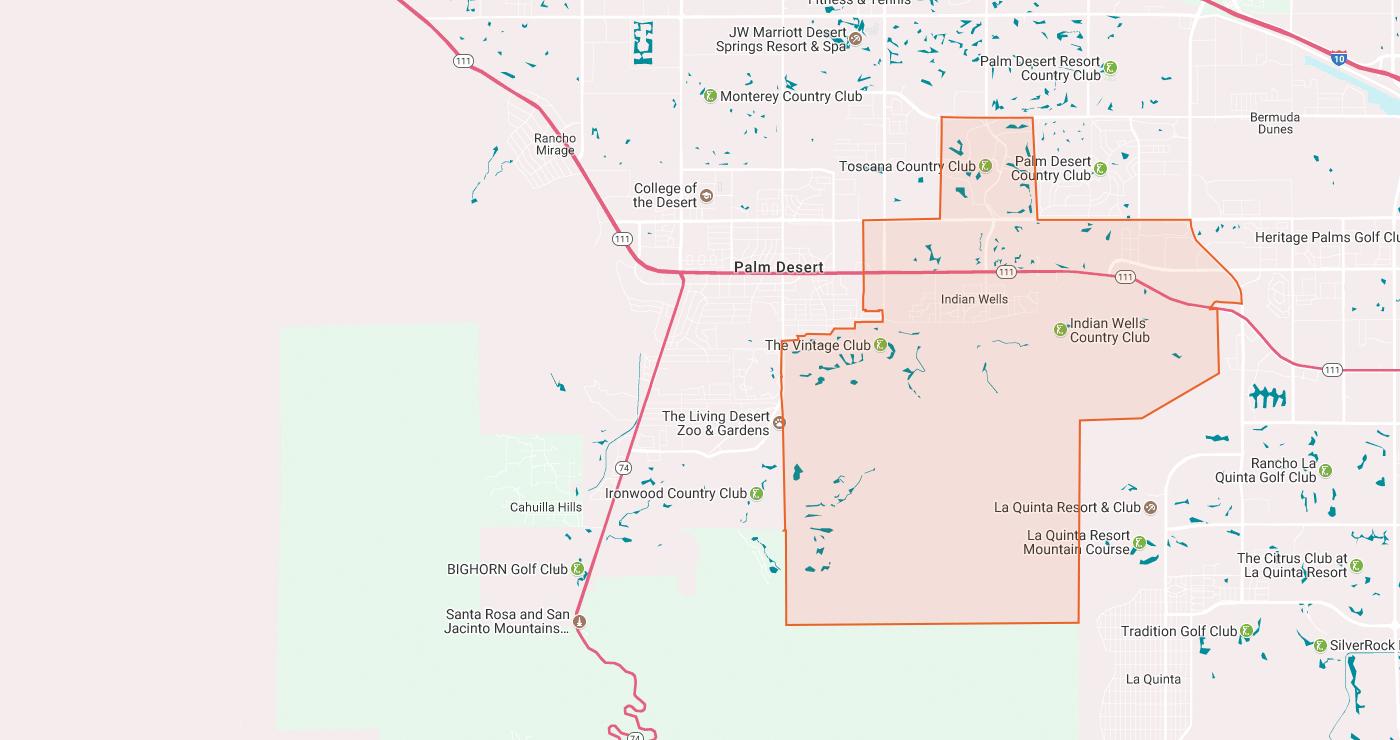 Indianwells Edca D C Adc Edfd Map California Map Indian Wells - Indian Wells California Map