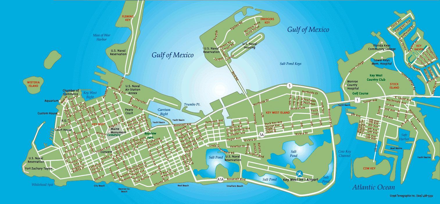 Indigo Moon - Key West Map - Map Of Hotels In Key West Florida