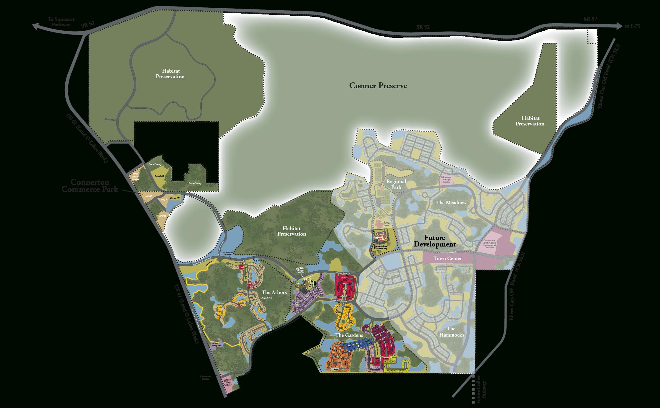 Interactive Area Map - Connerton - Land O Lakes Florida Map
