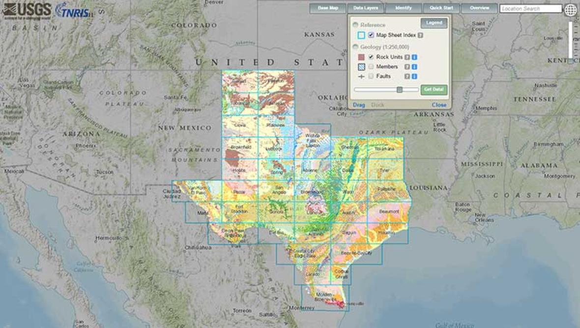 Interactive Geologic Map Of Texas Now Available Online - Texas Land Survey Maps Online