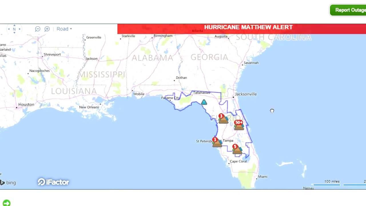 Interactive Live Map Shows Power Outages In Florida! - Youtube - Florida Power Outage Map