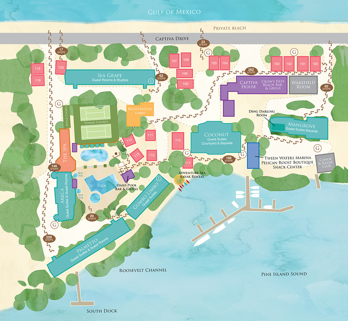 Interactive Map - Captiva Island Resort - 'tween Waters Inn, Sanibel - Google Maps Sanibel Island Florida