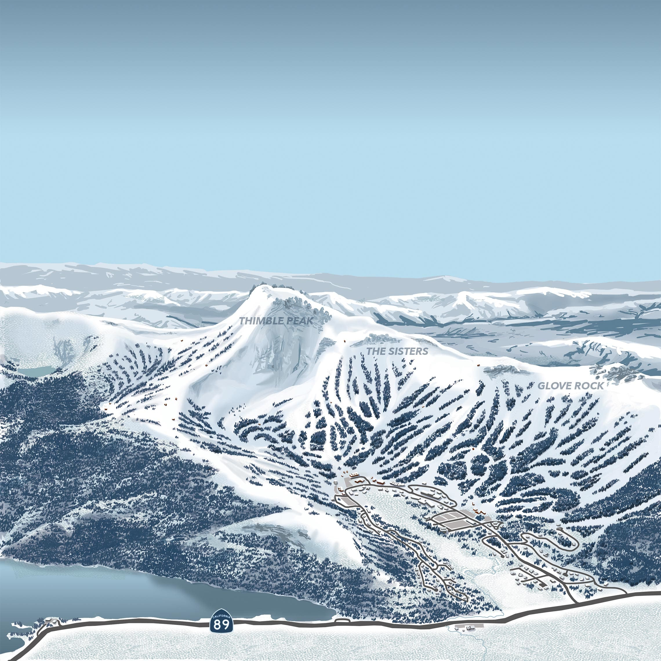 Interactive Map | Kirkwood Ski Resort - Kirkwood California Map