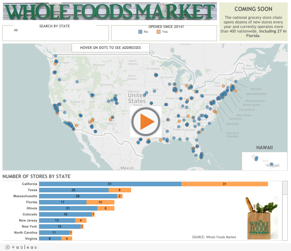 Interactive Map: Whole Foods Stores - Extra - Whole Foods Florida Locations Map