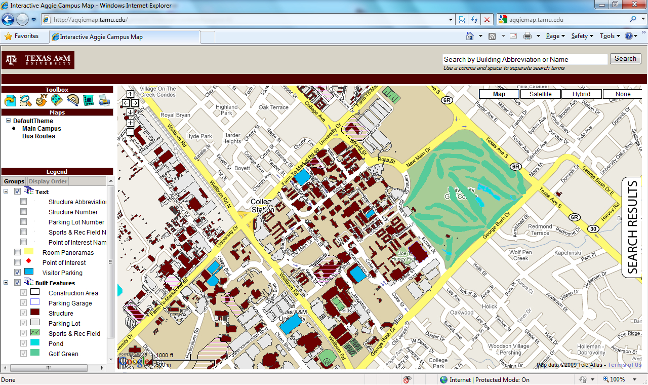 Interactive Maps - Office Of Facilities Coordination - Texas A&m Map