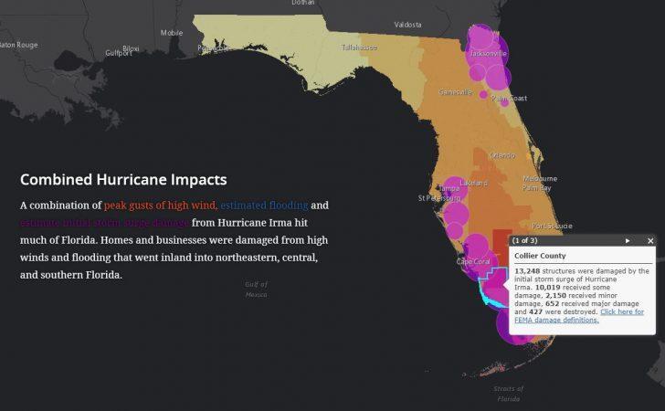 Florida Hurricane Damage Map