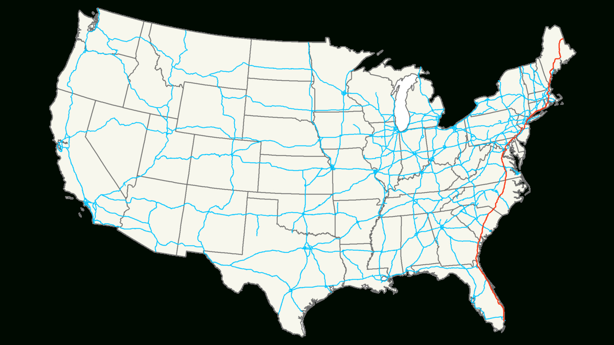 Interstate 95 — Wikipédia - Map Of I 95 From Nj To Florida