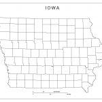 Iowa Blank Map   Printable Map Of Iowa