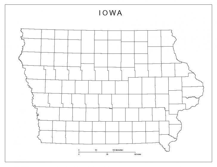 Printable Map Of Iowa