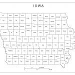 Iowa Labeled Map   Printable Map Of Iowa