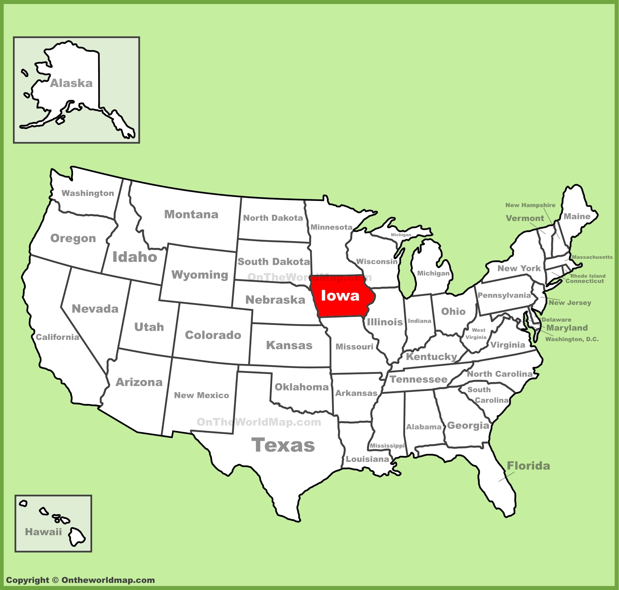 Iowa State Maps | Usa | Maps Of Iowa (Ia) - Printable Map Of Iowa
