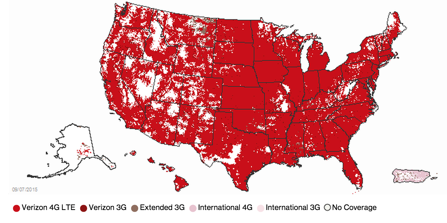 Iphone 6S Carriers Compared Based On Coverage: At&t Vs. Verizon Vs - Verizon 4G Coverage Map Florida